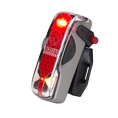 Light and Motion VIS 180 Silver Moon bike tail light - Bright Nite
