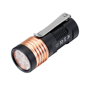 Manker E14 III 4000 Lumens Flashlight+ Type-C USB Rechargeable 18350 Battery(10A)