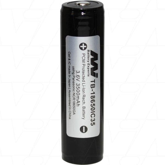 Master Instruments 18650 3500mah rechargeable li-ion battery - Bright Nite