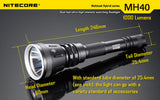 Nitecore MH40 Thor XM-L2 1000 lumen Rechargeable LED Torch