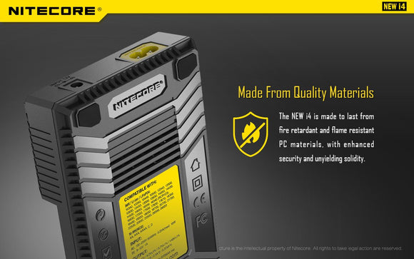 Nitecore Intellicharger i4 v2 Lithium Ion-NiMh-NiCd Battery Charger