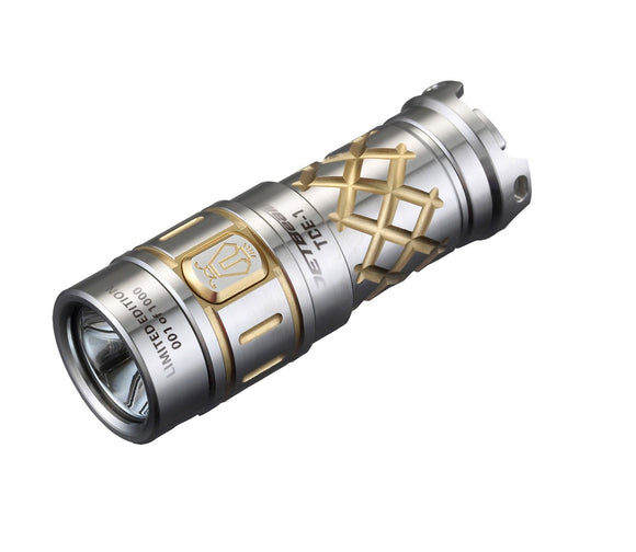 Niteye TCE-1 Titanium 600 lumen 16340 Limited Edition Flashlight - Bright Nite
