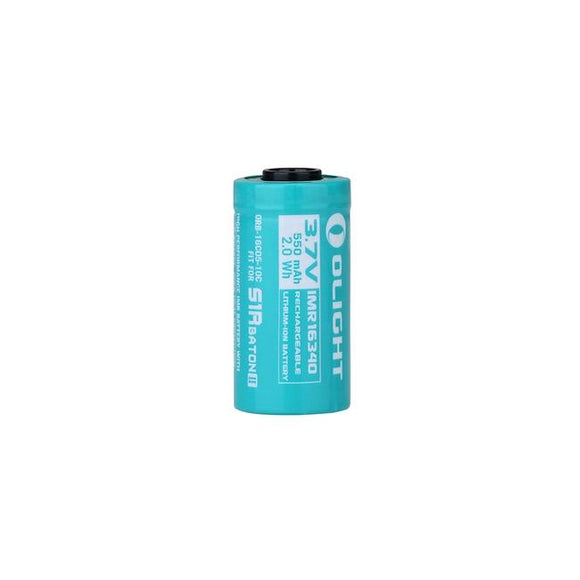 Olight 16340 IMR 550mAh Battery for S1R Baton II - Bright Nite
