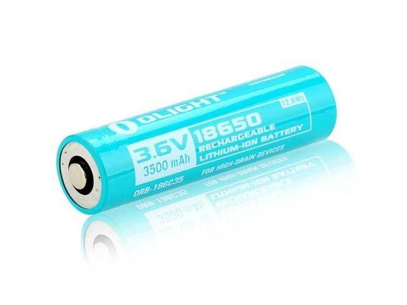Olight 3500MAH 18650 BATTERY FOR S30RII-S30RIII-S2R-R20 JAVELOT - Bright Nite