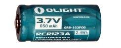 Olight RCR123A 3.7V, 650mAh Li-ion rechargeable battery - Bright Nite