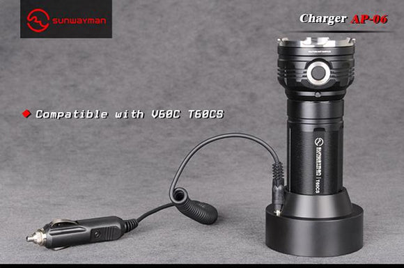 Sunwayman AP-06 Charger for V60C and T60CS - Bright Nite
