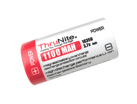 Thrunite 18350 1100mah 3.7v Rechargeable battery - Bright Nite
