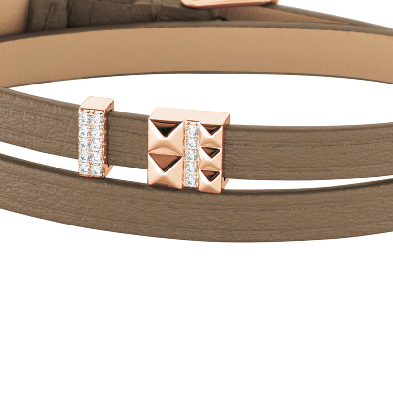 2 in 1, Choker & Bracelet PETIT VOYAGE 6DT Taupe RO