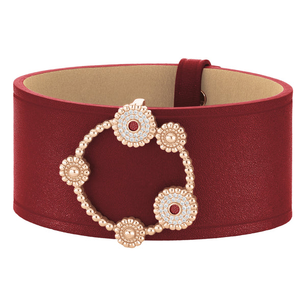 Cuff BOURGEON FLORAL Amaranth RO