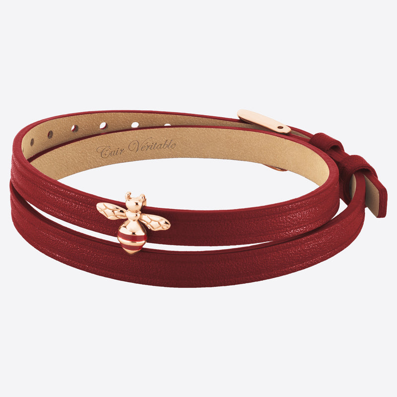 2 in 1, Choker and Bracelet ABEILLE 6DT Amaranth RO
