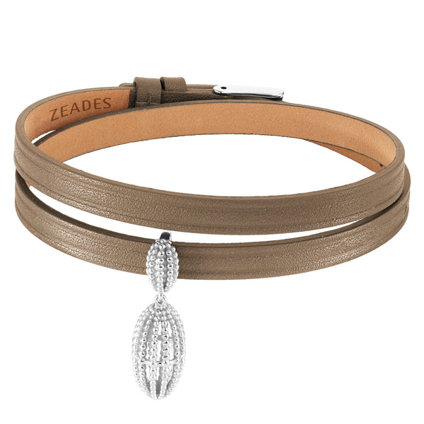2 in 1, Choker and Bracelet JARDIN EXOTIQUE 6DT Taupe SI