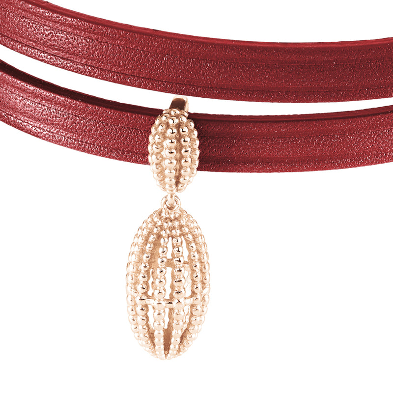 2 in 1, Choker and Bracelet JARDIN EXOTIQUE 6DT Amaranth RO