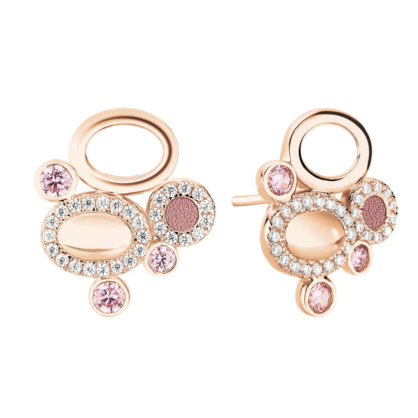 Earrings GALETS Rose RO