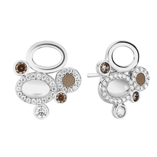 Earrings GALETS Taupe SI