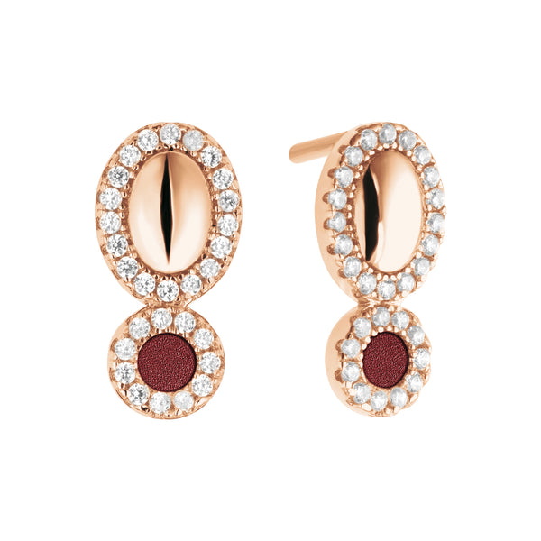 Earrings GALETS Petit Amaranth RO