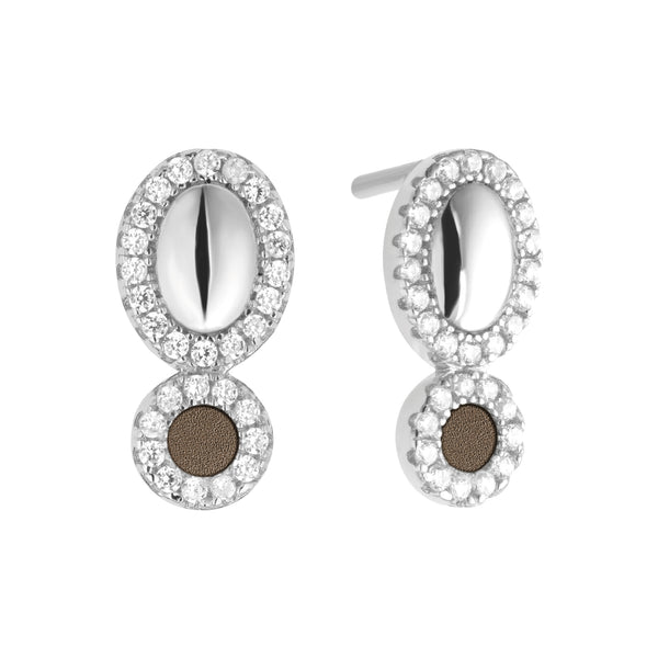 Earrings GALETS Petit Taupe SI