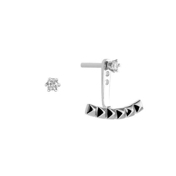Earrings Asymmetric ARC-1 VOYAGE SI