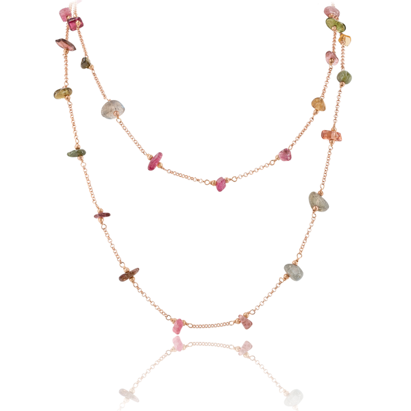 Long Necklace VIE OCEANE Rose RO