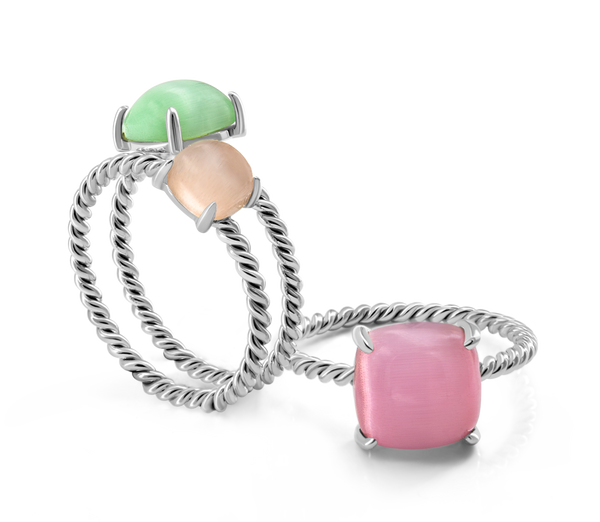 Ring Set VIE OCEANE Green Si