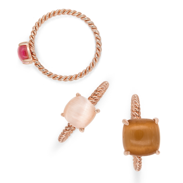 Ring Set VIE OCEANE Rose RO