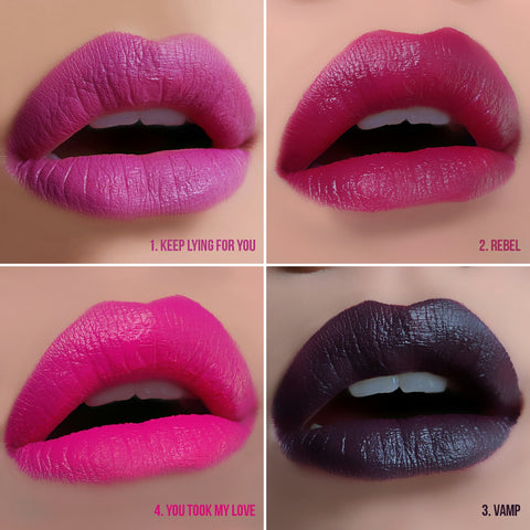Makeup Revolution Salvation Velvet Lip Lacquer Swatches