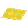 Yellow Argyle Rug