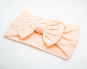 Bow Headband (3-Pack) - Apricot