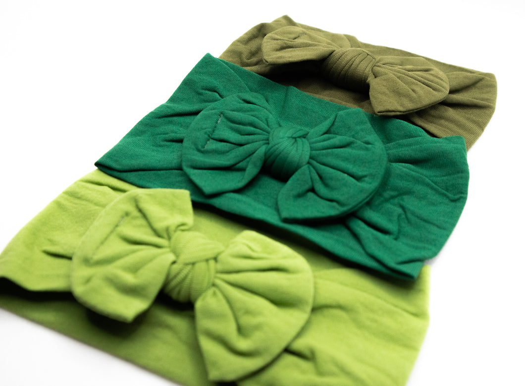 Bow Headband (3-Pack) - Kiwi
