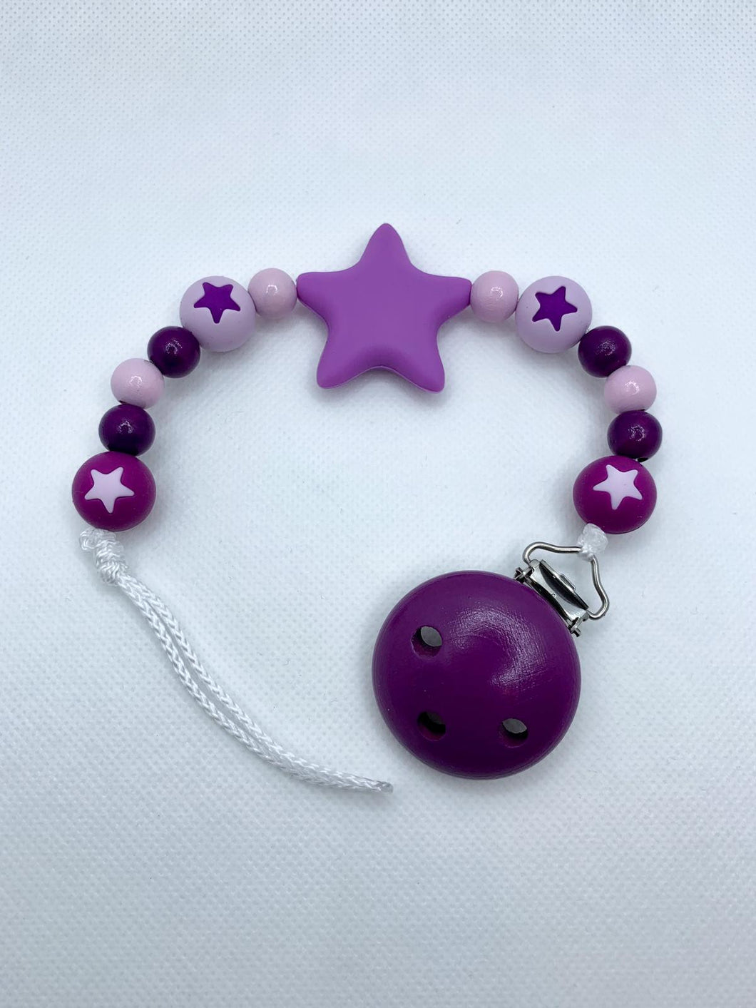 Pacifier Chain - Purple, Rose, Lila