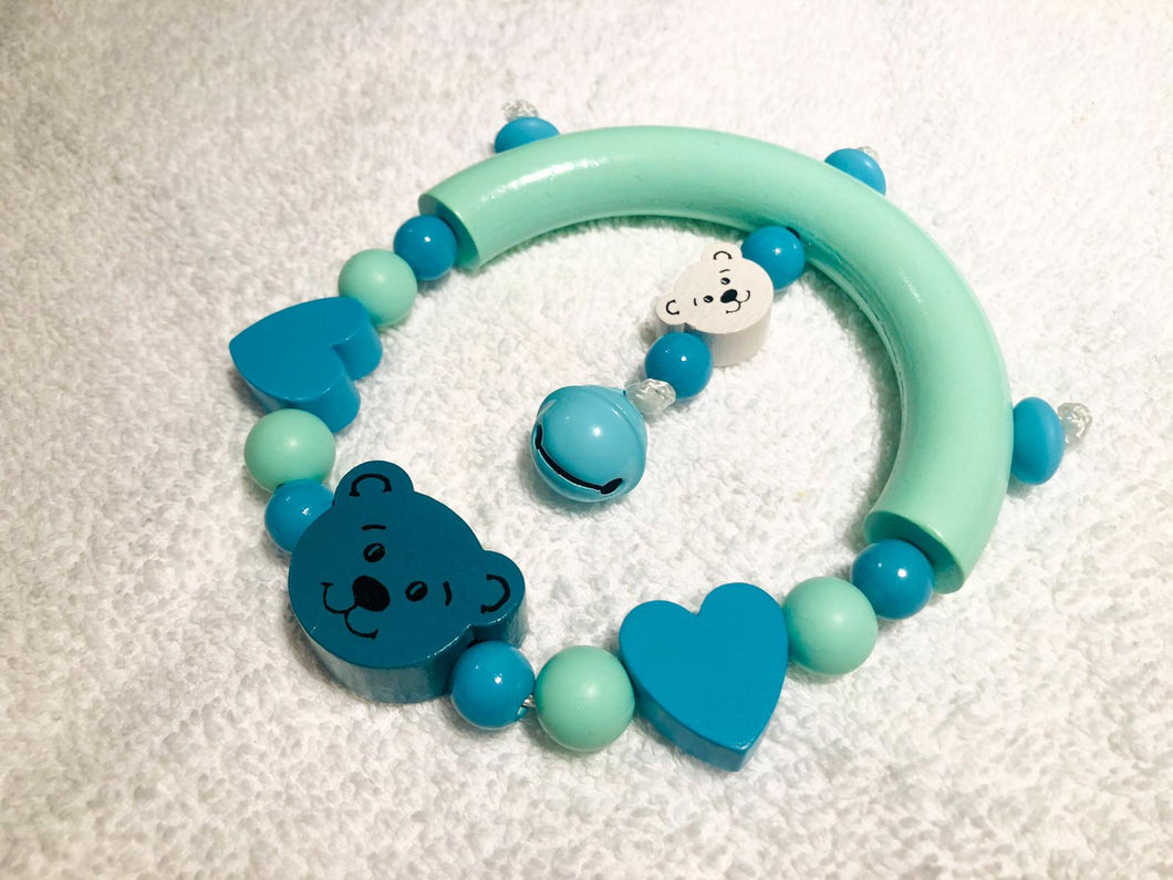 Rattle Toy - Mint, Aqua, Turquoise