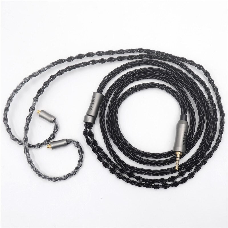 BQEYZ C8 MMCX - 8 Core Silver Plated IEM Upgrade Cable