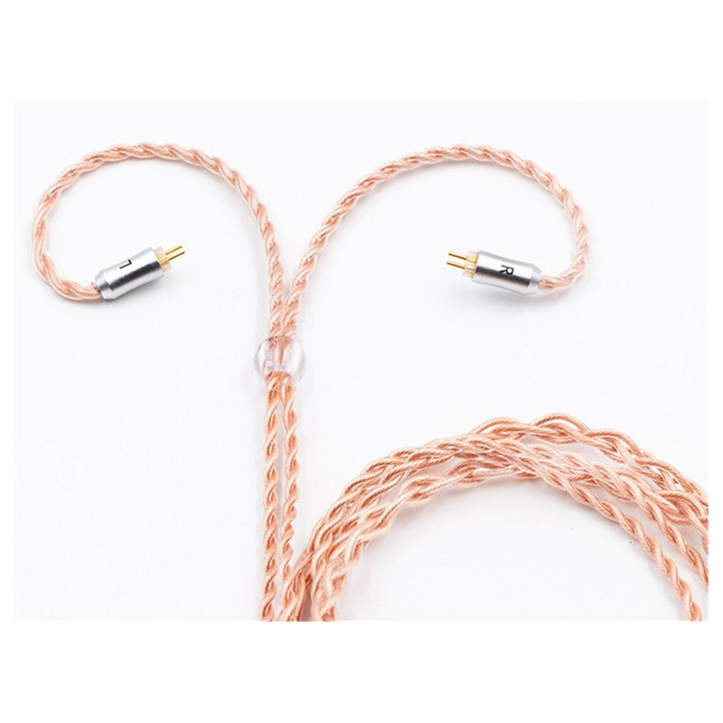 BQEYZ C9 2 Pin 0.78mm - 4 Cores Single Crystal Copper Cable For IEM's