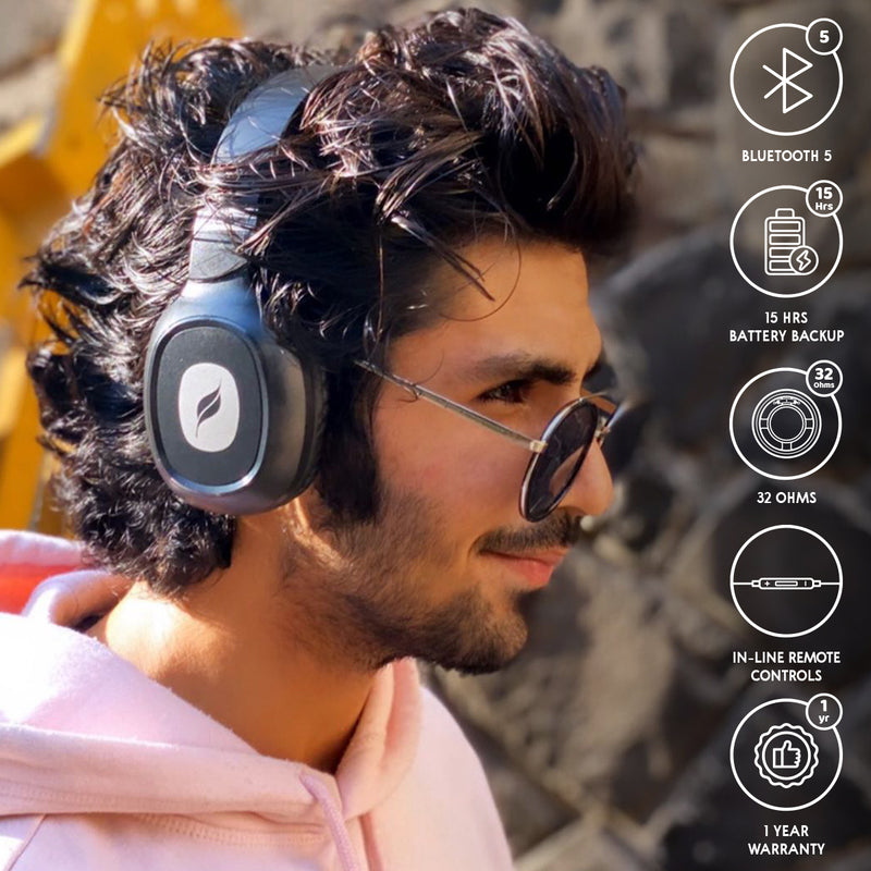 Leaf Bass 2 Wireless Bluetooth Over-Ear Headphone with Mic