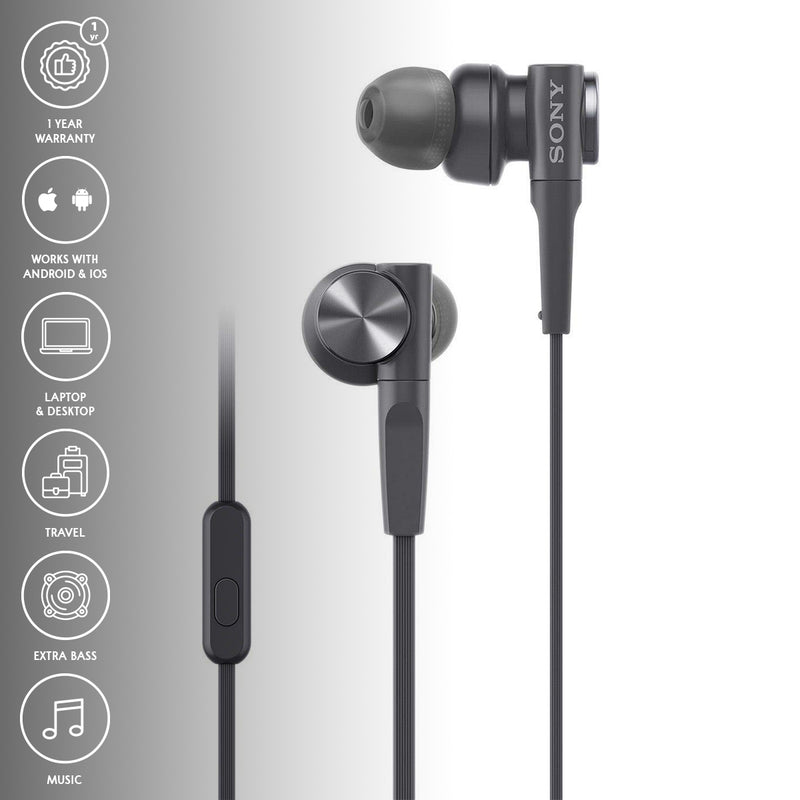Sony MDR-XB55AP Extra Bass Wired Earphones With Mic
