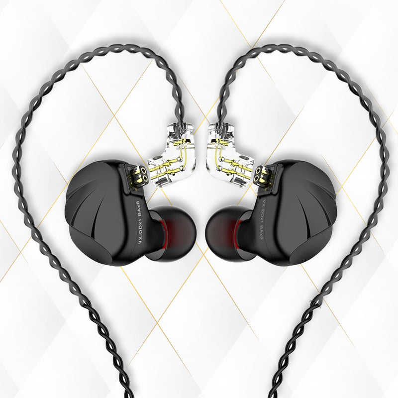 TRN VX Seven Driver (1DD+6BA) Wired IEM With Mic