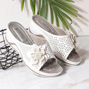 Women's Summer Flower Non-Slip Wedge Heel