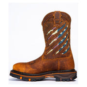 Men's Composite Toe Ripped Flag Western Work Boots