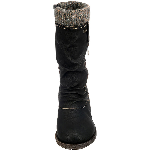 Women's Middle Sleeve Warm Zipper Snow Boots