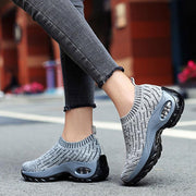Women Casual Running Breathable Mesh Cushion Platform Sneakers