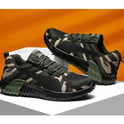 Flyknit Camouflage Walking Shoes Platform Sneakers