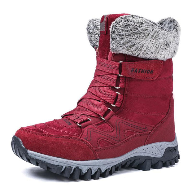 Women's Winter Thermal Villi Anti Skid High Top Boots