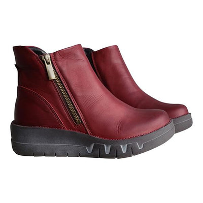 Women's Casual Comfortable Side Zipper Ankle Boots