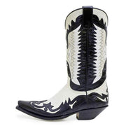 Men's Color Matching Pointed Mid-Tube Knight Boots