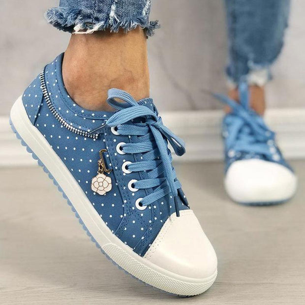 Women's Lace-up Casual Flat Shoes