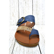 Women's Retro Casual Buckle Slippers