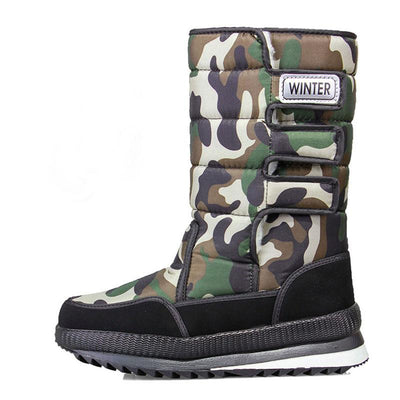 Men's Thickened High Tube Snow Boots Non-Slip Shoes