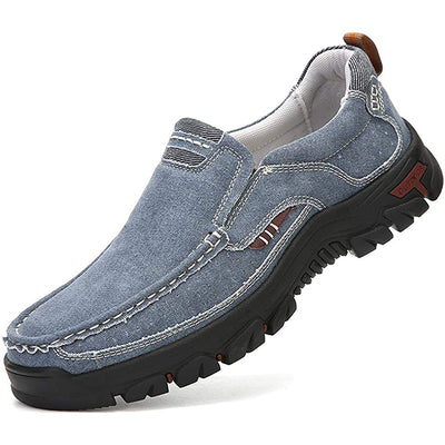 Mens Canvas Slip On Loafers Casual Walking Driving Boat Shoes