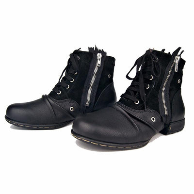 Men Military Genuine Leather Ankle Boots