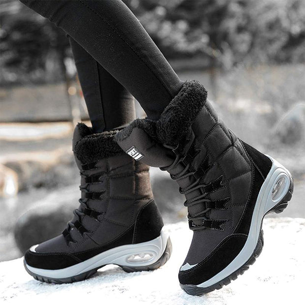 Ladies Outdoor Warm Thick High Top Snow Boots
