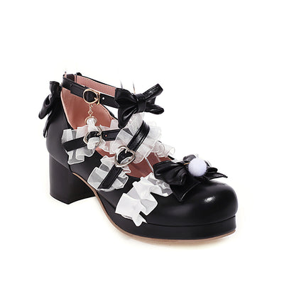 Ladies Cute Lolita Small Leather Shoes